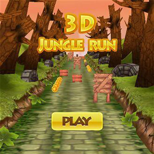 3d jungle run title